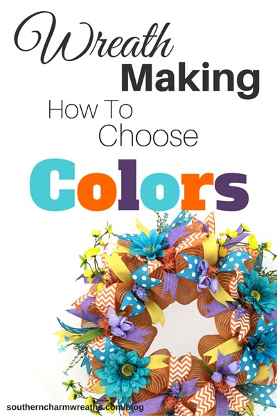 Wreath making - how to choose colors by www.southerncharmwreaths