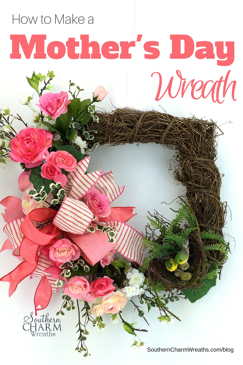 How to Make a Beautiful Mother's Day Wreath, Mother's Day Gift Ideas, Mother's Day Crafts
