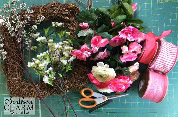 How To Make A Mothers Day Wreath Supplies