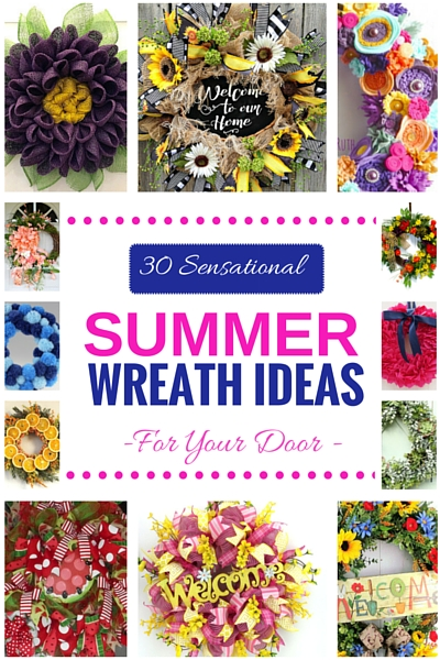 30 Sensational Summer Wreath Ideas for Your Door Round Up by www.southerncharmwreaths.com/blog