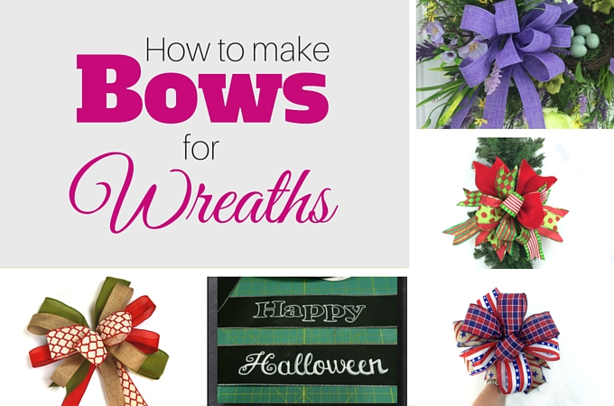How to Make Bows for Wreaths by www.southerncharmwreaths.com