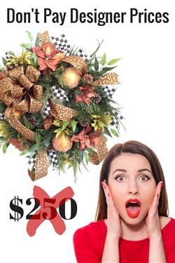 How to Make Silk Flower Christmas Wreath