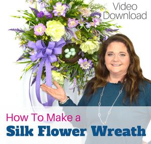 How to Make a Silk Flower Wreath