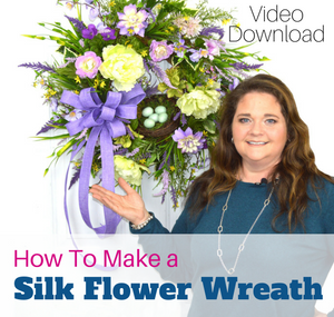 How to Make a Silk Flower Spring wreath by Southern Charm Wreaths