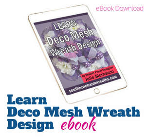 Learn How to Make Mesh Wreath with two colors
