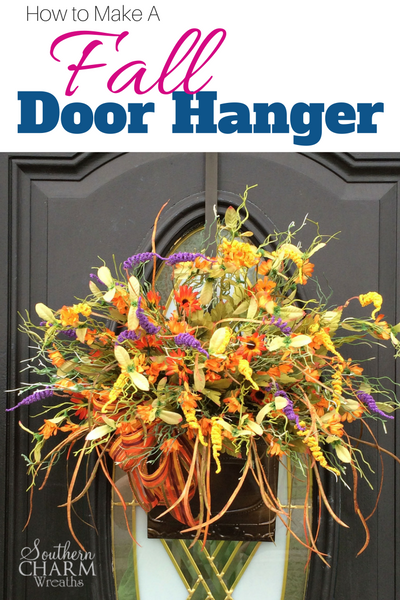 How to make a Fall door hanger by www.southerncharmwreaths.com