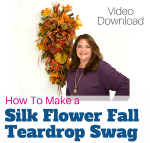 How to Make a Fall Teardrop Swag by Southern Charm Wreaths