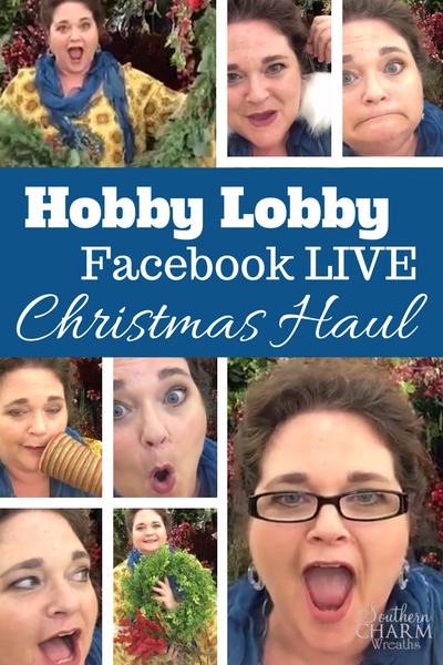 Join me LIVE inside Hobby Lobby picking out Christmas items for my Wreath supplies.