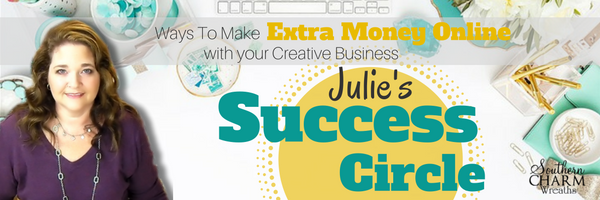 Creative Business Training with Julies Success Circle Membership Group - Learn to ways to make extra money online with your creative business.