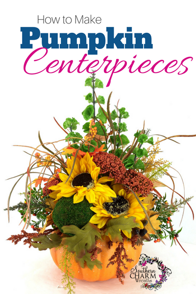 In this video, how to make pumpkin centerpieces with styrofoam pumpkins by Southern Charm Wreaths.