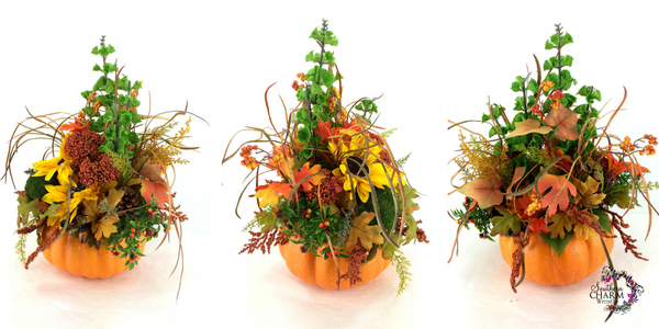 Video on how to make fall pumpkin centerpieces by www.southerncharmwreaths.com/blog