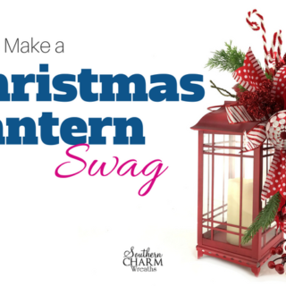 How to make a Christmas Lantern Swag in peppermint theme.