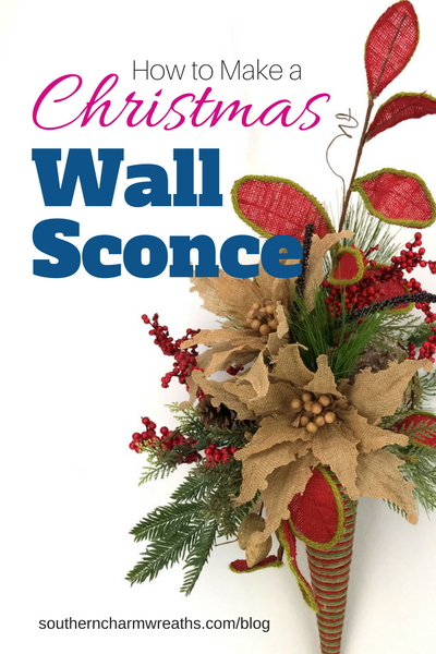 How to Make a Christmas Wall Sconce