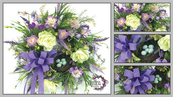 Designer silk flower spring wreath training video southern charm how to make a silk flower spring wreath mightylinksfo