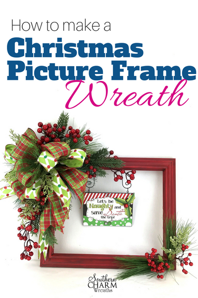 How to Make the Popular Christmas Picture Frame Wreath