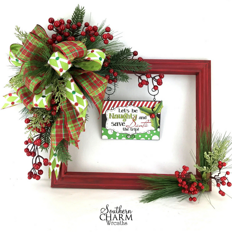 how-to-make-a-christmas-picture-frame-wreath