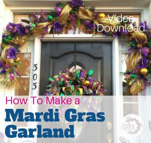 How to Make a Deco Mesh Garland by Julie Siomacco