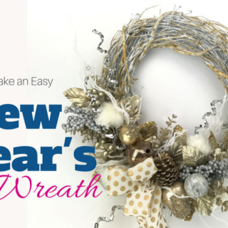 How to Make an Easy New Year's Door Wreath