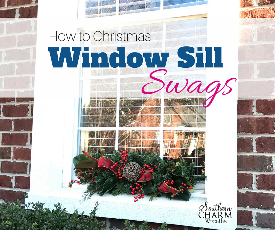 Outdoor Christmas Window Swags.How To Make Christmas Window Sill Swags For A Holiday Home