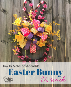 How to make and adorable Easter Bunny Door Wreath