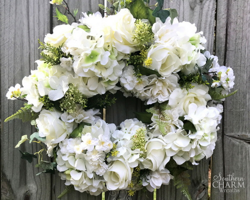 Genial How To Make An Elegant Wedding Wreath For Front Door