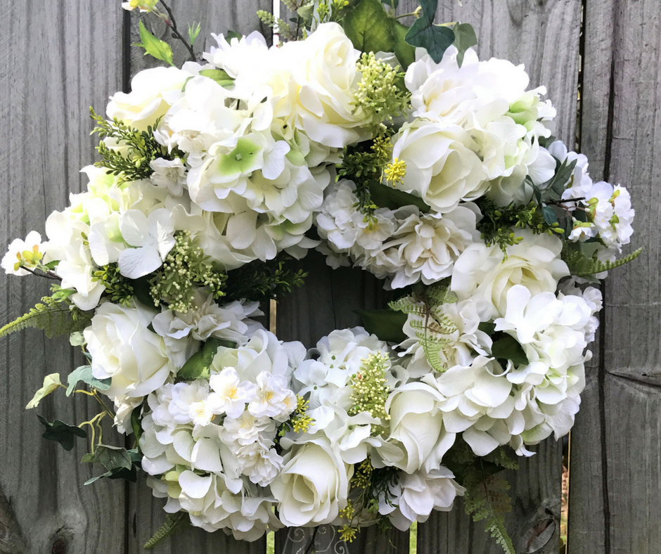 How To Make An Elegant Wedding Wreath For Front Door   Southern Charm  Wreaths