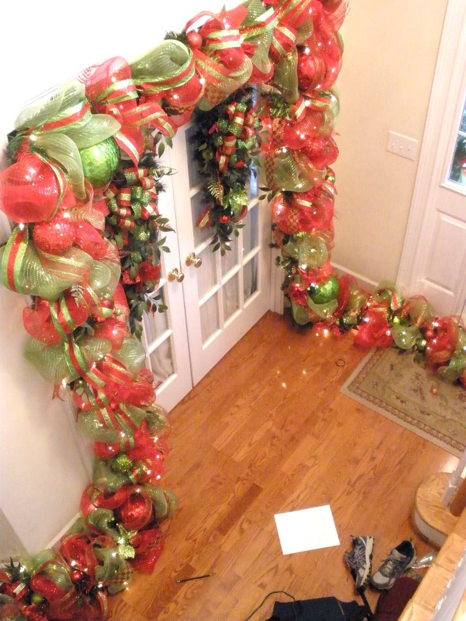 Deco Mesh Christmas home by Southern Charm Wreaths