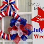 How to Make a Simple July 4th Door Wreath