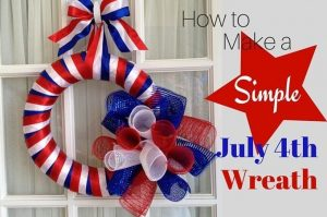 How to Simple July 4th Wreath