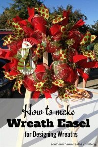 Make wreaths easier with a wreath easel. Save money and make your own wreath easel here.