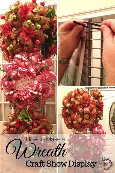How to make a wreath craft show display or storage display by SouthernCharmWreaths.com