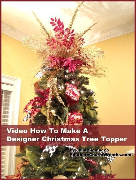 how to make a christmas tree topper 452 x 600 southern charm wreaths. Black Bedroom Furniture Sets. Home Design Ideas