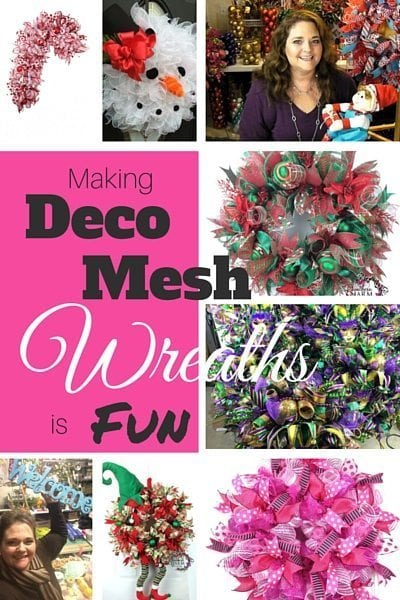 Making Deco Mesh Wreaths is Fun