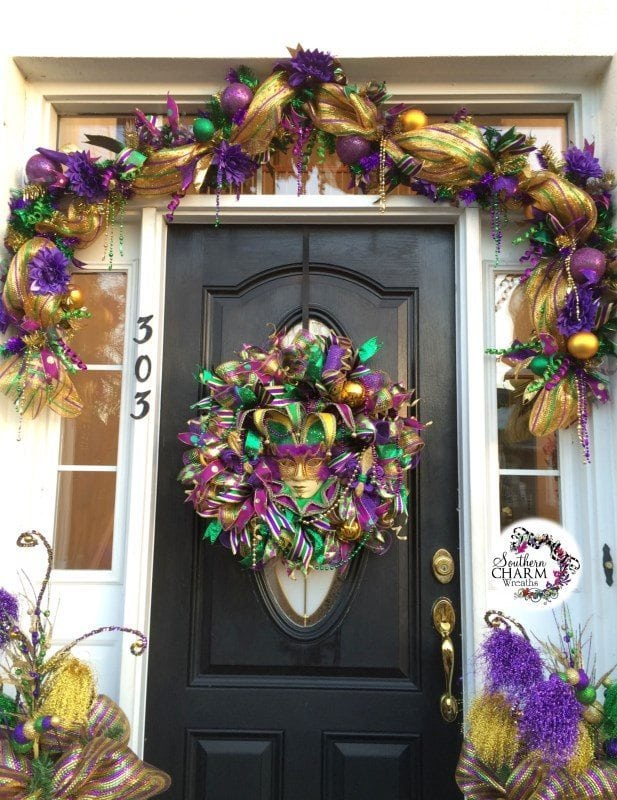 Decorate Your Door For Mardi Gras
