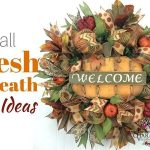 Fall Deco Mesh and Fall Burlap Wreaths