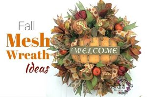 Deco Mesh Fall Wreaths by Southern Charm Wreaths