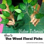 How to Use Wood Floral Picks in Wreaths