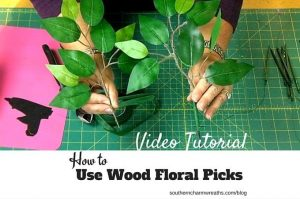 How to Use Wood Floral Picks