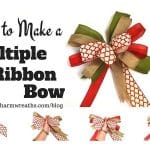 How to Make a Bow with Multiple Ribbons