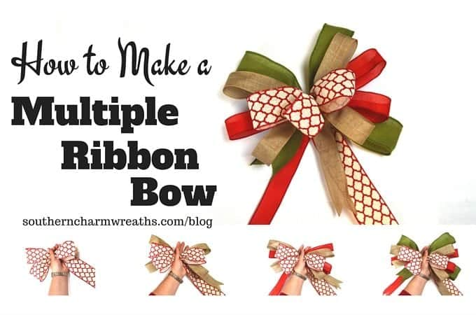How to make a multiple ribbon bow
