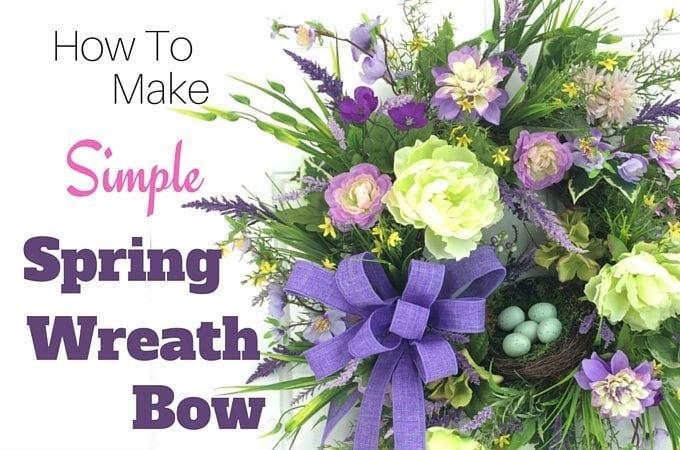 How to make a simple spring wreath bow