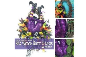 How to Attach a Raz Witch Butt in Wreath