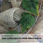 Use Leftovers to Hide Mechanics on Wreaths