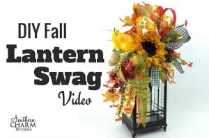 How To Make a Fall Lantern Swag