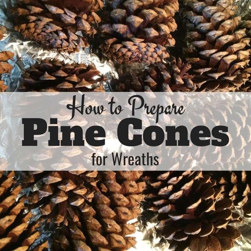 Prepare Pine Cones For Wreaths