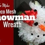 How To Make Deco Mesh Snowman Wreath