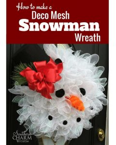 How to Make a Deco Mesh Snowman Wreath with Video