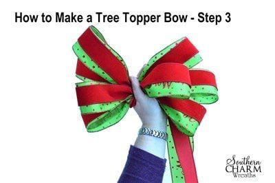 video how to make a tree topper bow southern charm wreaths. Black Bedroom Furniture Sets. Home Design Ideas