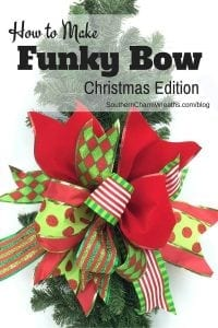 How To Make A Funky Bow - Christmas Edition