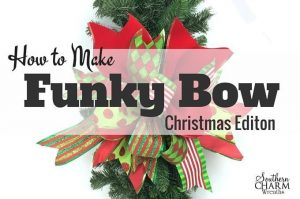 How to Make a Christmas Bow Using Different Ribbons